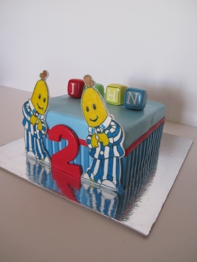 Bananas in Pyjamas cake By dittle on CakeCentral.com