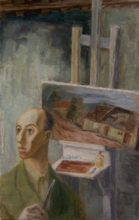 Tibor Gergely, self portait, 1935 http://www.tiborgergely.com