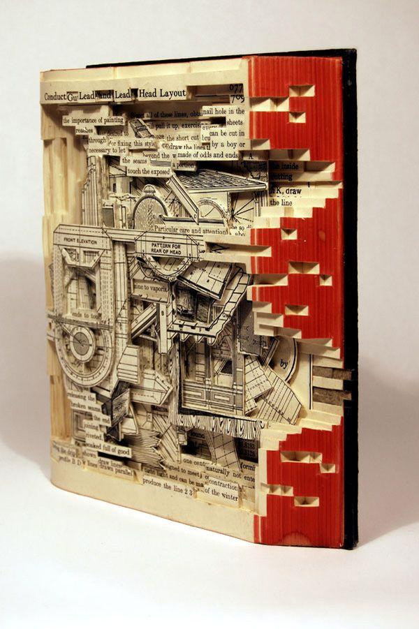sculture di libri