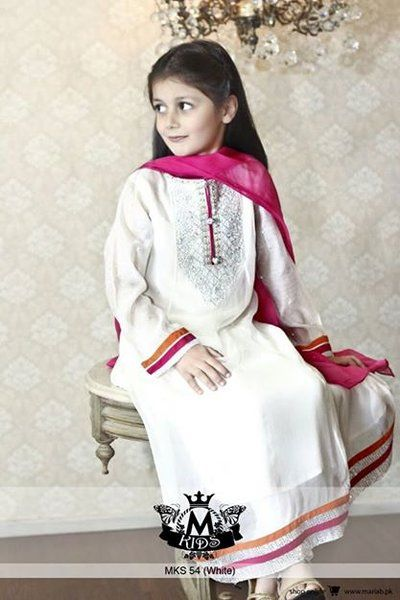 Newest & Latest Kids Wear Fashion Trend By Maria.B 2015.Most Launched Maria B. is one of Pakistan. The rally is equipped with beautiful shirts and long dresses,