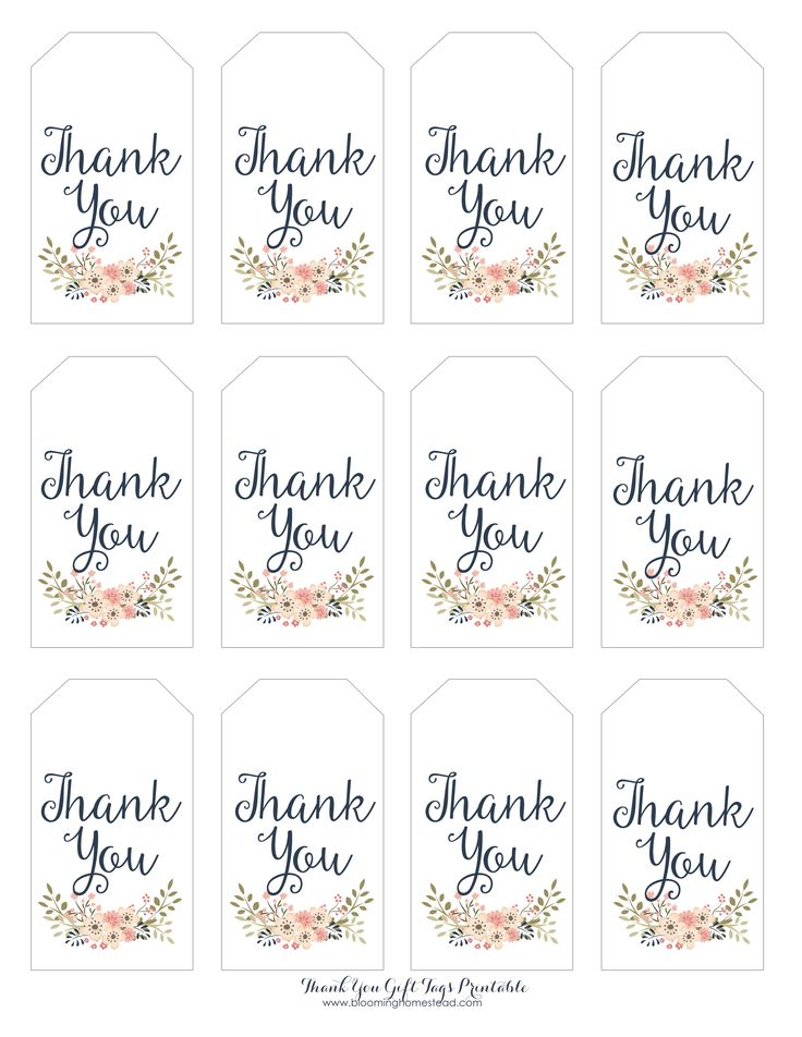 ... Gift tags printable, Free printable gift tags and Thank you tags