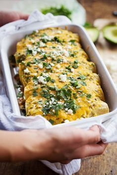 Butternut Squash and Mushroom Enchiladas with Tomatillo Sauce - so much flavor, just 250 calories. YES. | pinchofyum.com