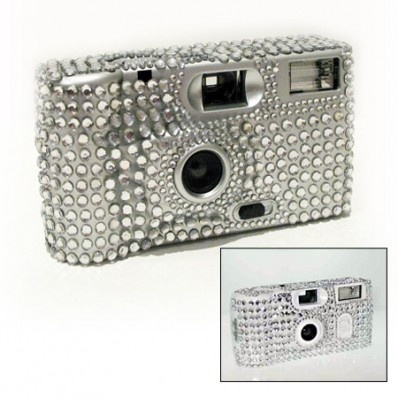 Rhinestone Wedding Disposable Camera Silver Or White Set Of 4