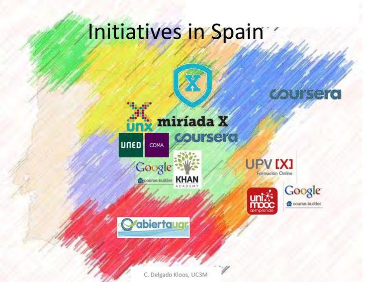 Mapa de ejemplos de #MOOCs en España. #CursosMoocs.