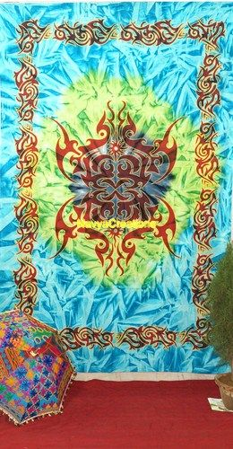 Multi Colour Hippie Celtic Tattoo Tapestry Indian Twin Wall Hanging Dorm Decor .