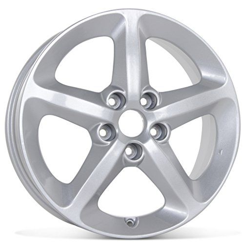 """New 17"""" Alloy Replacement Wheel for Hyundai Sonata 2006 2007 2008 2009 2010 Rim 70727  JWL/VIA Certifed Product  ISO 9001 Certifed Product  Replication  Silver"""