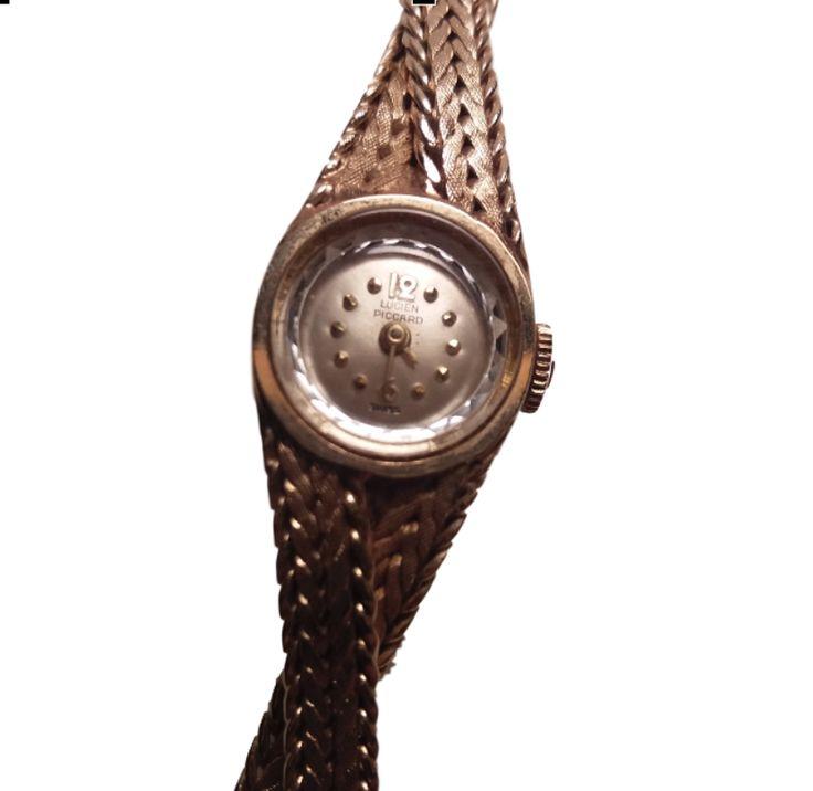 *rare vintage* Lucien Piccard ladies 14k gold watch
