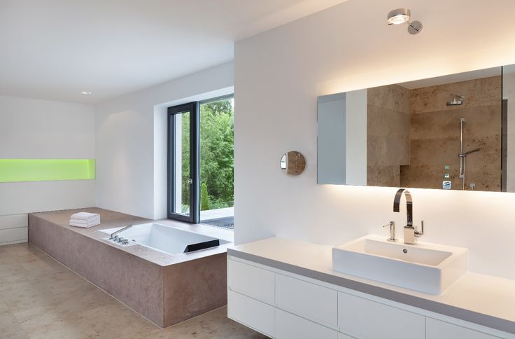 Berschneider + Berschneider, Architekten BDA + Innenarchitekten - badezimmer aufteilung neubau