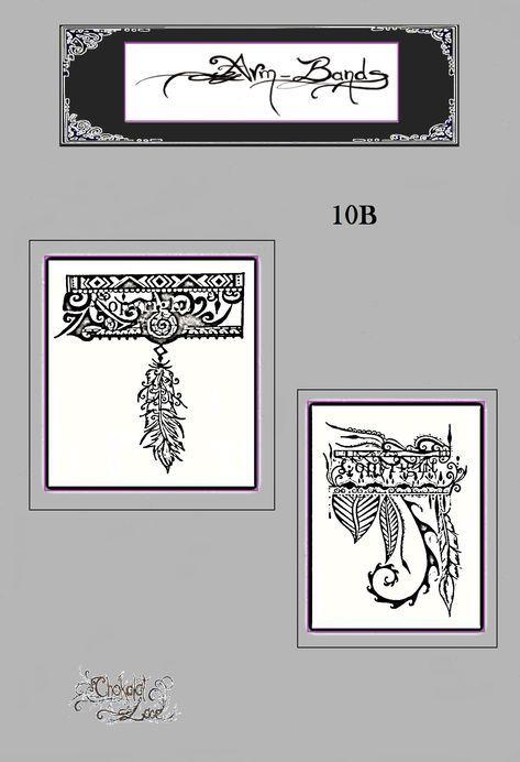 61102d07bf1c0 Arm Bands, (10B), jagua, henna, tattoo, stencil, carbon, thermal, henna  tattoo, henna transfer, jagua stencil, bodyart, facepainting, design by  ChokalatLace ...