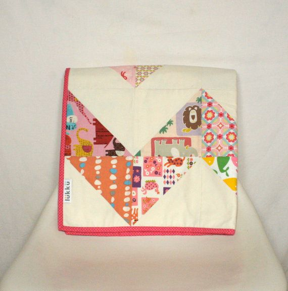 Baby quilt hand quilted by Lukku by Lukku on Etsy, $189.00