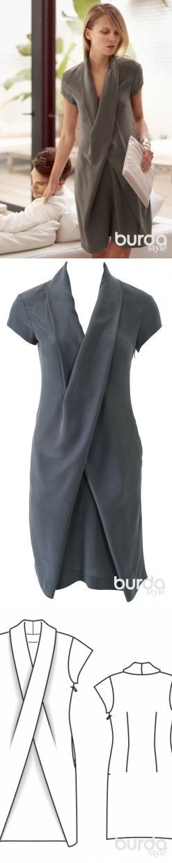 Платье - выкройка № 106 из журнала 4/2014 Burda – выкройки платьев на Burdastyle.ru