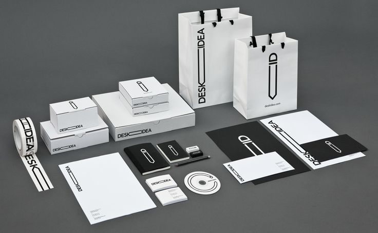 Identity and stationary for office supplies e-commerce sales.  Agency: Larsson-Duprez  Client: Deskidea
