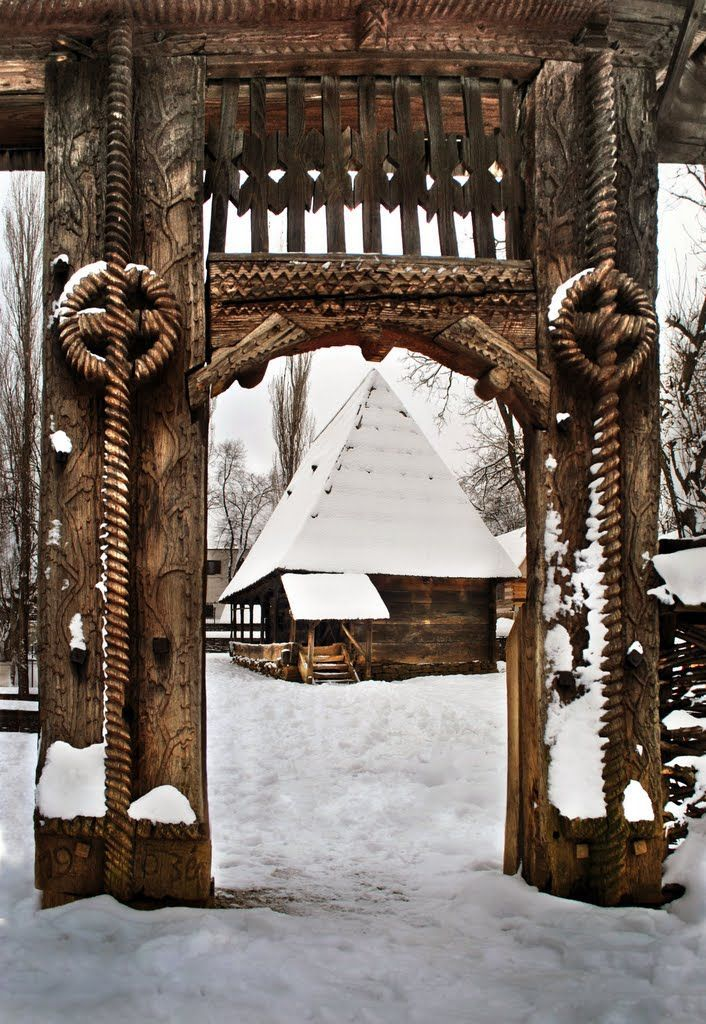Traditional wooden gate,Maramures county, Romania #wooden gate #Romania