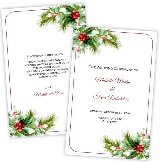 christmas program templates
