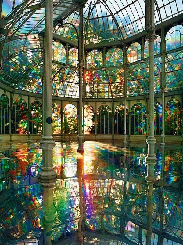 Room of Rainbows in Crystal Palace, Buen Retiro Park, Madrid. | pinned by wenmarstar.com.