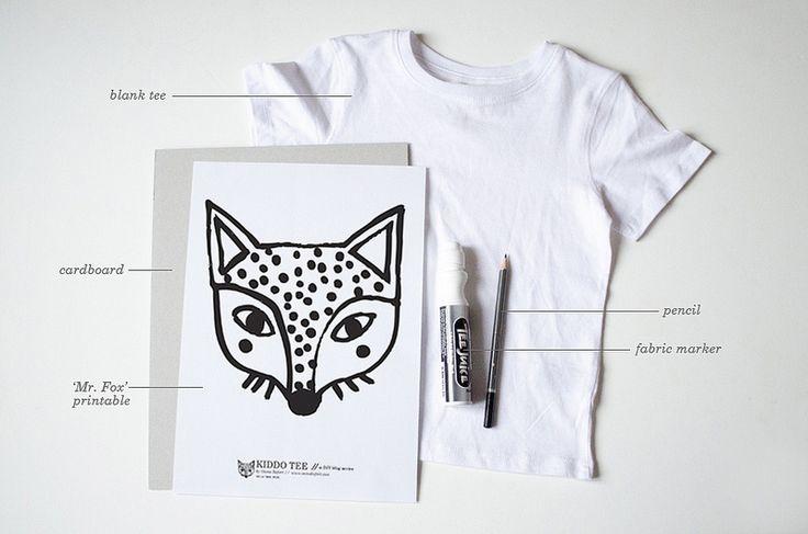 kiddo tee diy / mr. fox - supplies by oana befort