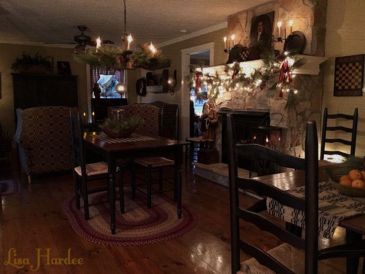 Primitive Colonial Keeping Room At Christmas Lisa Hardee
