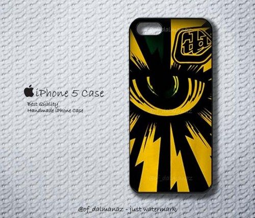 Troy Lee Designs Yellow Purple 2013 Gp Cyclops Iphone Case 5 | Dalmanaz - Accessories on ArtFire