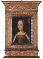 Portrait de Gabrielle de Bourbon vers 1491 - Elle décède le 30 novembre 1516 et est inhumée dans la chapelle Notre-Dame de Thouars au côté de son fils unique, Charles de la Trémoille (mort à la bataille de Marignan en 1515), qui laissa un fils François.
