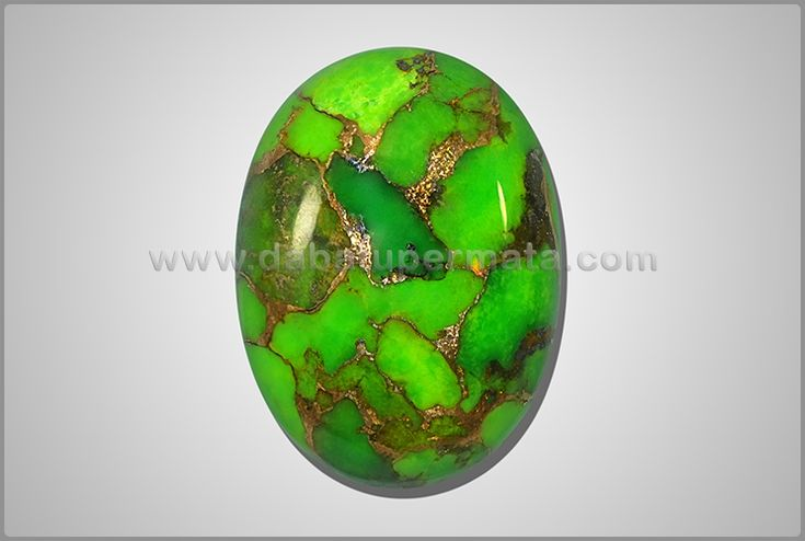 Batu Mulia Antik PIRUS Hijau Urat Emas. Porselen Padat - PS 066