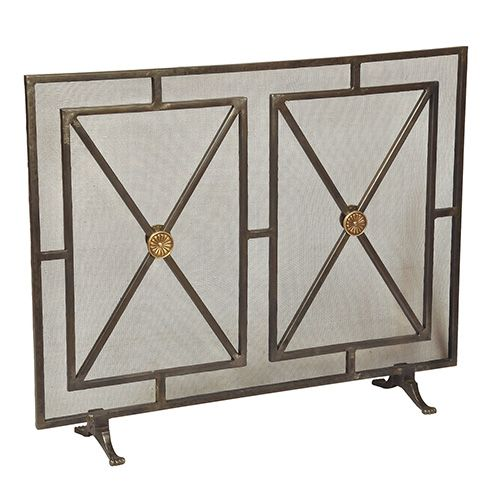 Iron Rainbow Paneled Firescreen Sarreid Screens Fireplace Accessories Home  Decor  Dr Livingstone I Presume Accessories