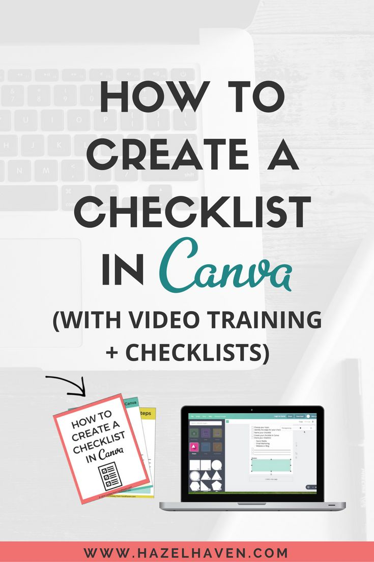 Creating a checklist is a great way to grow your email list. Checklists also come in handy if you would like to provide someone with a breakdown on how to do something. You can create checklists in a few programs like word, apple pages, InDesign and etc but I personally like to create my checklists in Canva. You can watch the video training below on How to Create a Checklist in Canva: