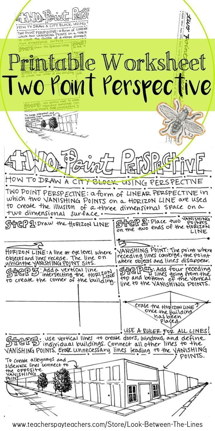 Art Drawing Basics Two Point Perspective Printable Worksheet Art Activity In 2020 Perspective Drawing Lessons Perspective Lessons Point Perspective