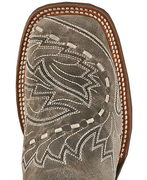 Dan Post Mad Cat Sidewinder Cowgirl Boots - Square Toe in Charcoal Grey