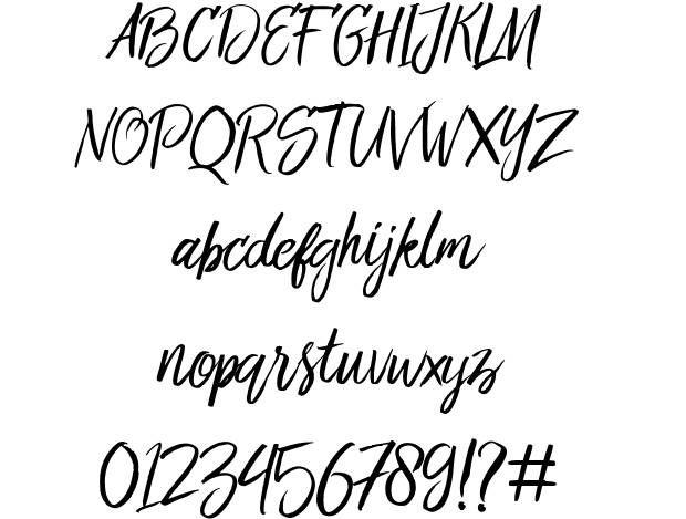 Bringshoot font