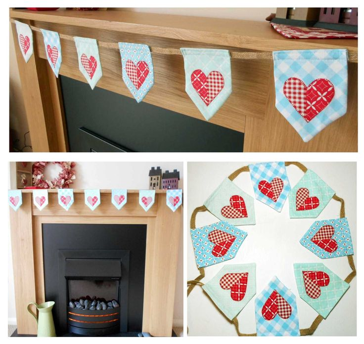 Valentine Bunting - quick, easy and FREE bunting pattern.