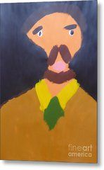 Metal Print featuring the painting Portrait Of Eugene Boch 2015 - After Vincent Van Gogh by Patrick Francis