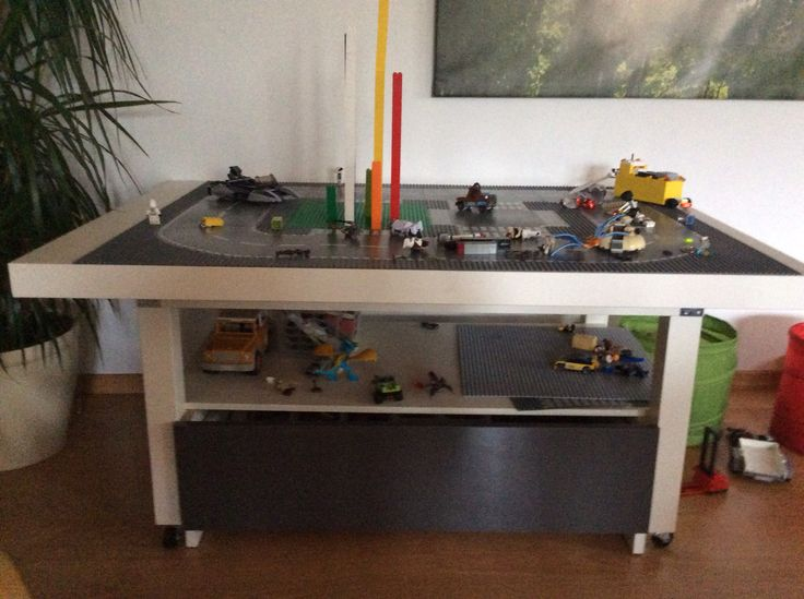 unsere version vom diy legotisch nicht nur f r lego aus einem alten ikea tisch und mit. Black Bedroom Furniture Sets. Home Design Ideas