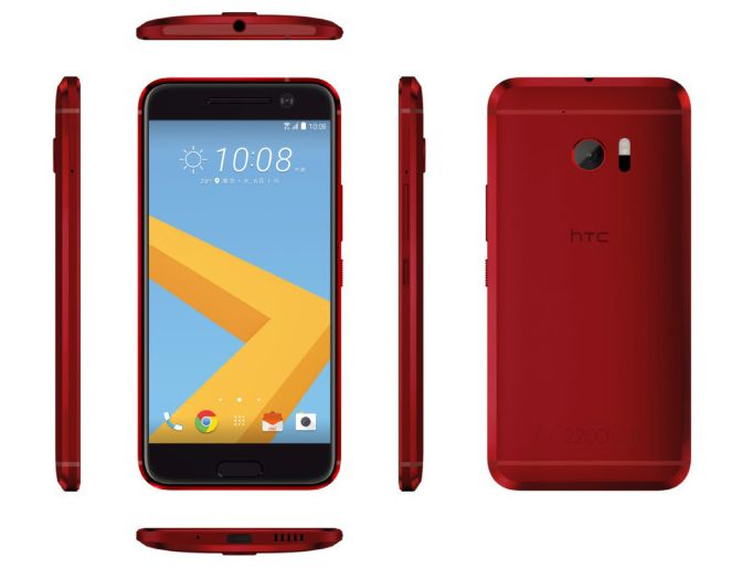 HTC 10 in red is beautiful.