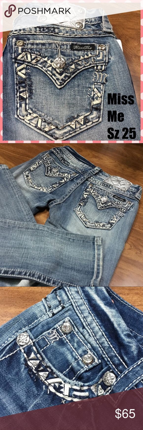 Miss Me Signature Straight NWOT Awesome detail on these jeans.  Outlet tag only.  New. Miss Me Jeans Straight Leg