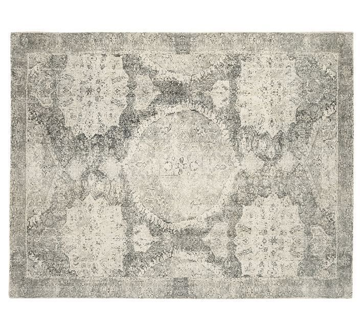 Pottery Barn Barret Printed Wool Rug Gray 8'X10' area rug carpet    Home & Garden, Rugs & Carpets, Area Rugs   eBay!