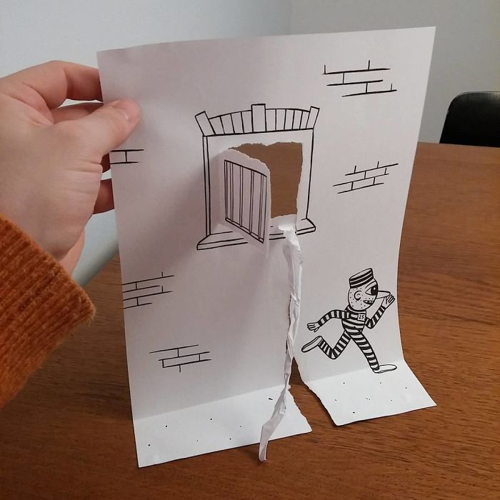 Illustrator Uses Clever 3D Tricks To Bring His Cartoons To Life