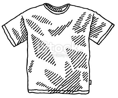Men's T-Shirt Drawing Royalty Free Stock Vector Art Illustration