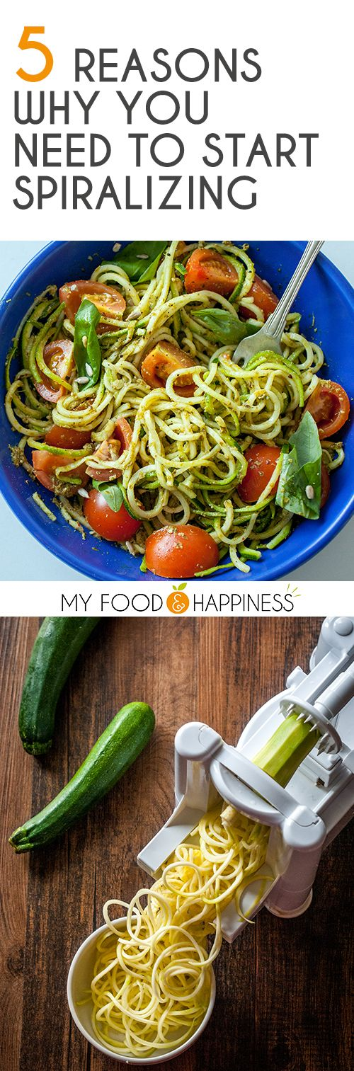 5 reasons why you need to start spiralizing! Find out why this trend in healthy eating is taking over the world and what are the real benefits of spiralizing vegetables and turning them into versatile noodles that you can use to create delicious, gluten-free and low-carb pasta!