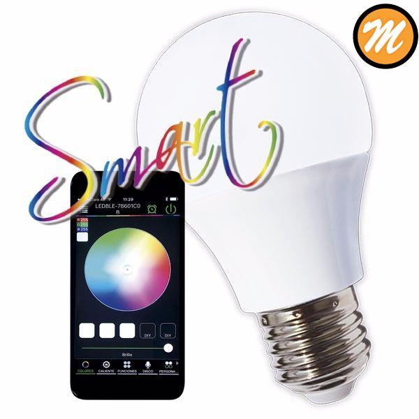 Lámpara a LED Smart, controlada a través de tu smartphone. Cambia de color y de intensidad según lo quieras. Conseguila en nuestro showroom - Chile 1449-