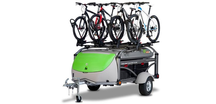 SylvanSport GO | Lightweight, Small Pop Up Campers - Camping Trailer biking boating tow behind.  And, you can sleep on it.