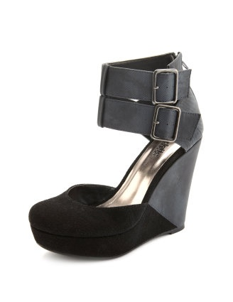 Black and grey wedges