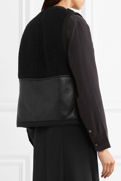 Chloé - Reversible Shearling Vest - Black