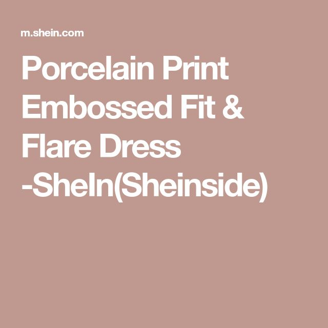 Porcelain Print Embossed Fit & Flare Dress -SheIn(Sheinside)