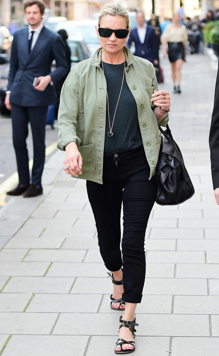 Kate Moss Just Wore a Topshop Jacket—and It Sold Out Immediately via @WhoWhatWear
