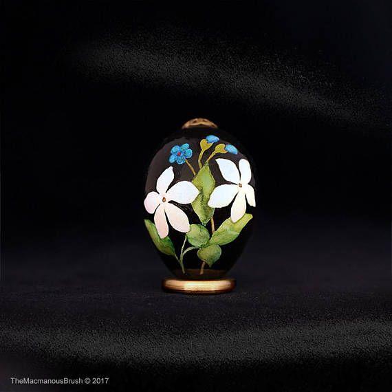 Blue #veronica and white #jasmine, #Quail egg, #Veranda garden, #watercolor, #easteregg, #springstyle
