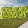 "Lime Green Garbage Collection Center is a Recycled Aluminum ""Urban Stomach"" Huarte Vaillo Recycling Center – Inhabitat - Sustainable Design Innovation, Eco Architecture, Green Building"