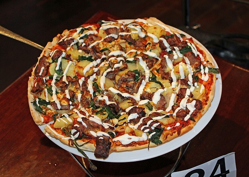 Lamb & Klpfler Potato pizza from the 40's cafe Angaston