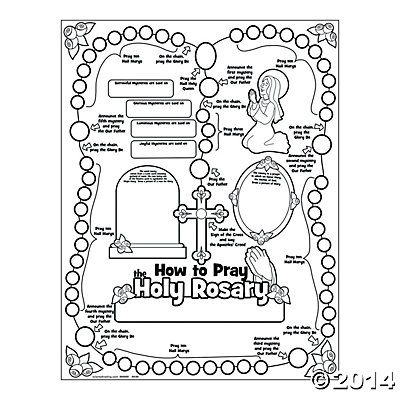 how to pray the rosary printable rosary poster the color themselves ccd 22339 | d6d6e834eec6f4d2508946e39d593901