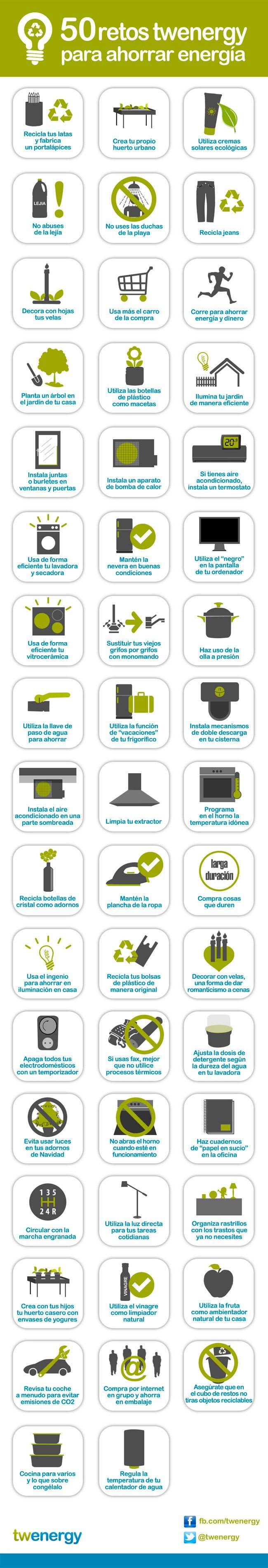 50 consejos para ahorrar energía para el 22 de abril. (Earth Day 4/22/13)