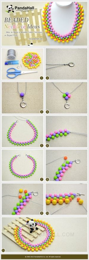Beaded Necklace Ideas - How to Make a Beaded ... | Jewelry Making Tut�� by wanting